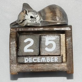 Sleeping cat calendar