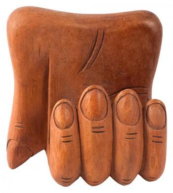 Hand Carved Wooden Business Card Holder