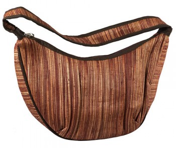 Oval zipped shoulder bag