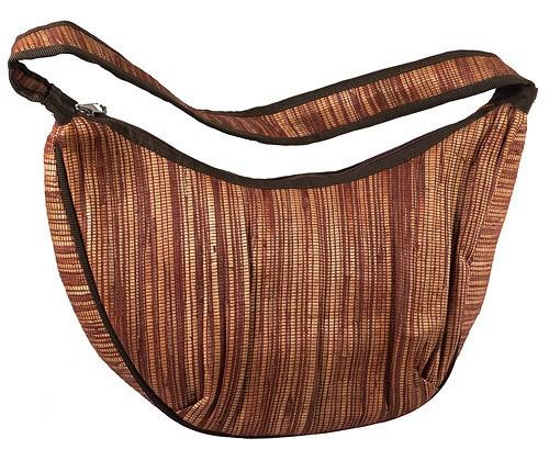 Oval zipped shoulder bag