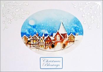 Handmade Christmas Card – Christmas Town
