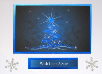 Handmade Christmas Card - Wish Upon a Star
