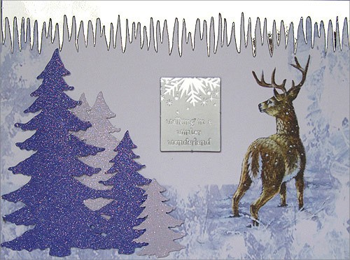 Handmade Christmas Card - Walking in a winter wonderland