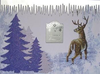 Handmade Christmas Card - Season's Greetings