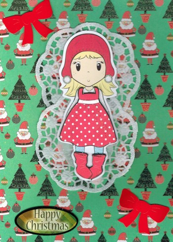Handmade Christmas Card - Little Red Cap