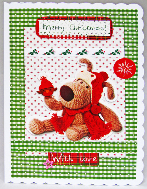 Handmade Boofle Christmas Card with insert