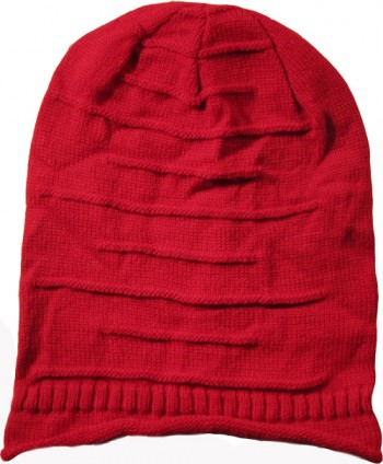 Dark Red Wool Blend Hat
