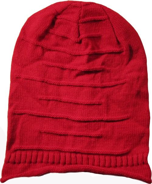 Dark Red Wool Blend Hat