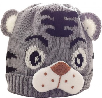 Kid's Little Tiger Hat (Grey)