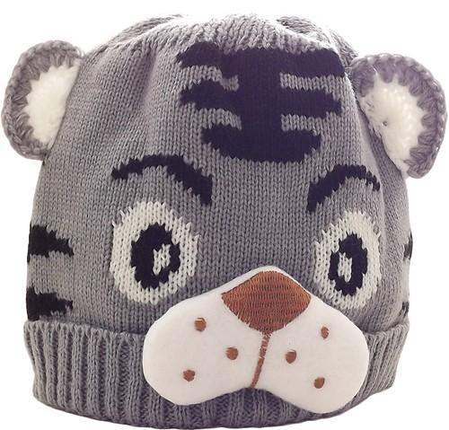 Kid's Little Tiger Hat (Grey)