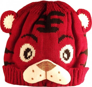 Kid's Little Tiger Hat (Maroon)