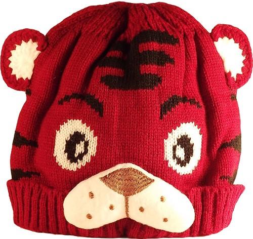 Kid's Little Tiger Hat (Maroon)