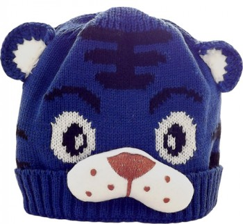 Kid's Little Tiger Hat (Navy)