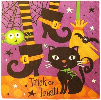 Halloween Spooky Boots Party Napkins
