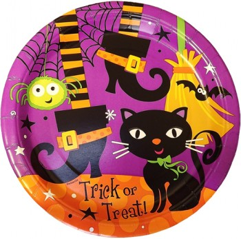 Halloween Spooky Boots Party Plates Large