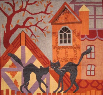 Tapestry Cushion Cover Cat's Life - Autumn