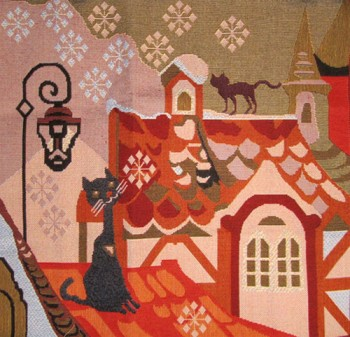 Tapestry Cushion Cover Cat's Life - Winter