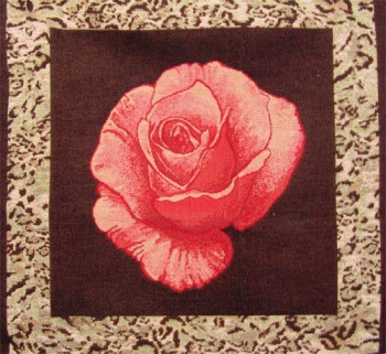 Tapestry Cushion Cover with a red rose
