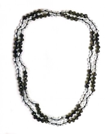 Necklace made out of black and white Crystal Beads
