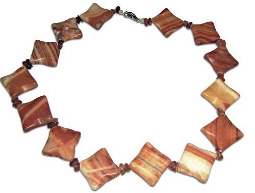 Necklace Jasper Square