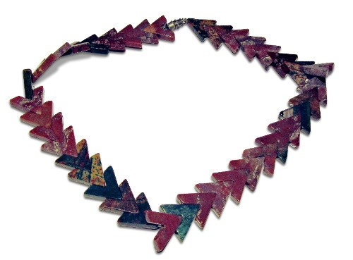 Necklace Jasper Shaped