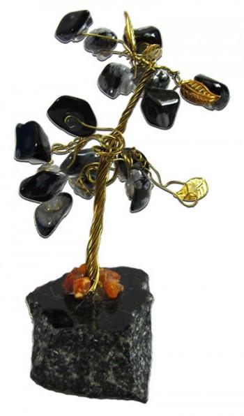 Gemstone Tree / Black obsidian
