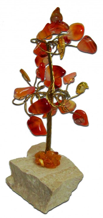 Gemstone Tree / Orange carnelian