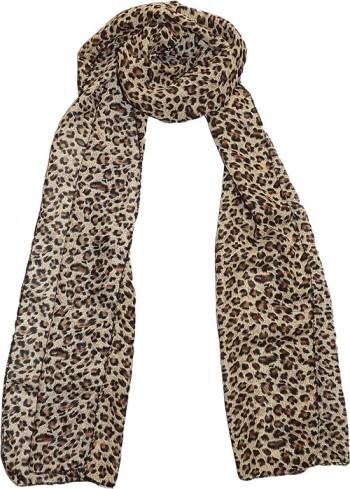 Wild Leopard Chiffon Scarf