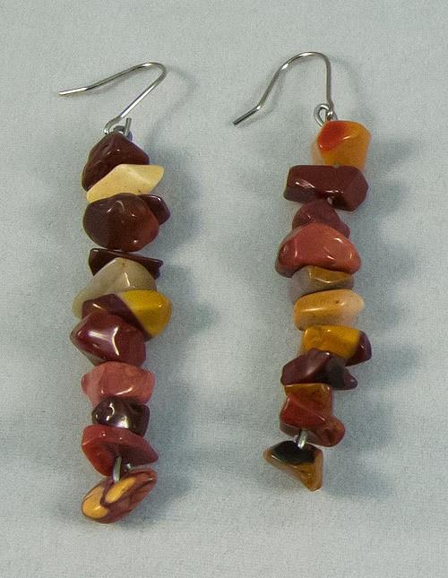 Earrings yellow opal