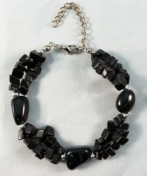 Bracelet obsidian