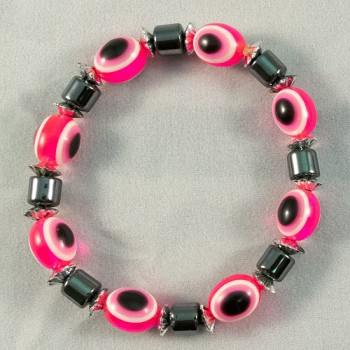 Bracelet hematite and rose beads