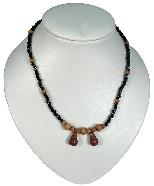 Necklace made out of wooden beads